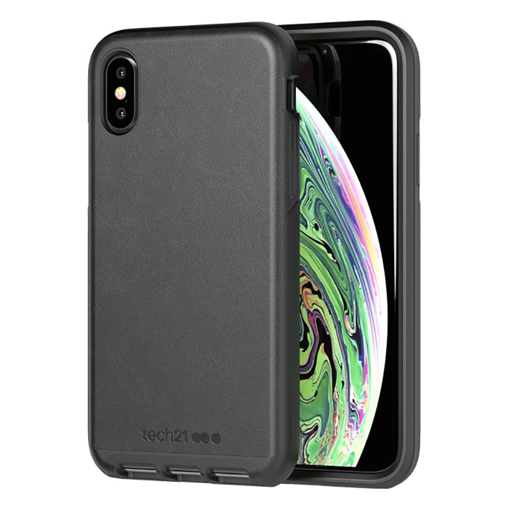 Купить Защитный чехол Tech21 Evo Luxe Faux Leather Black для iPhone X   XS