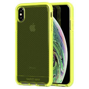 Купить Противоударный чехол Tech21 Evo Check Neon Yellow для iPhone XS Max
