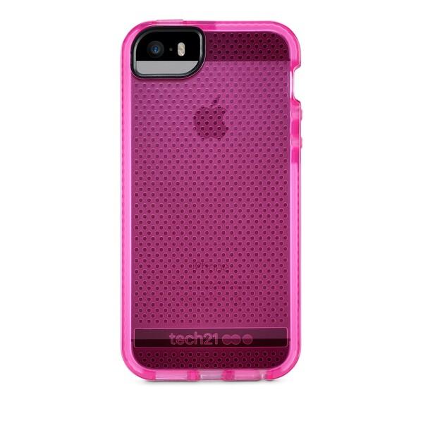 Противоударный чехол Tech21 Evo Mesh Pink   White для iPhone 5   5S   SE