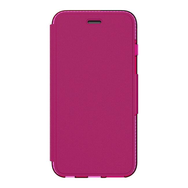 Противоударный чехол Tech21 Evo Wallet Clear/Pink для iPhone 6/6s Plus
