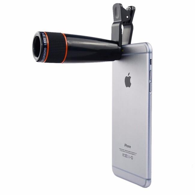 Универсальный оптический телескоп 12X для iPhone/Samsung/HTC