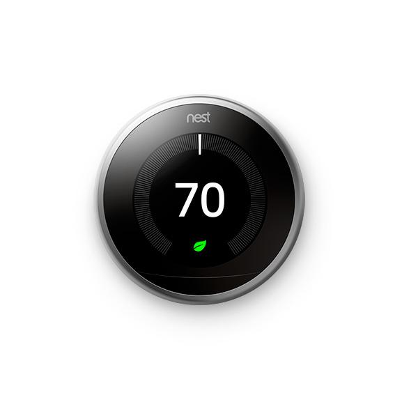 Купить Беспроводной термостат Nest Learning Thermostat 3rd Gen Stainless Steel