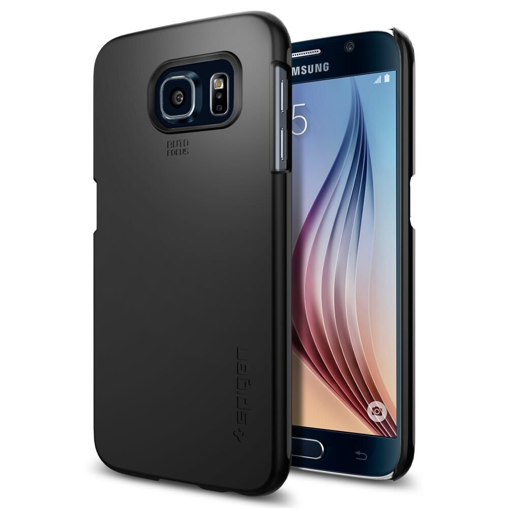 Чехол Spigen Thin Fit Smooth Black для Samsung Galaxy S6