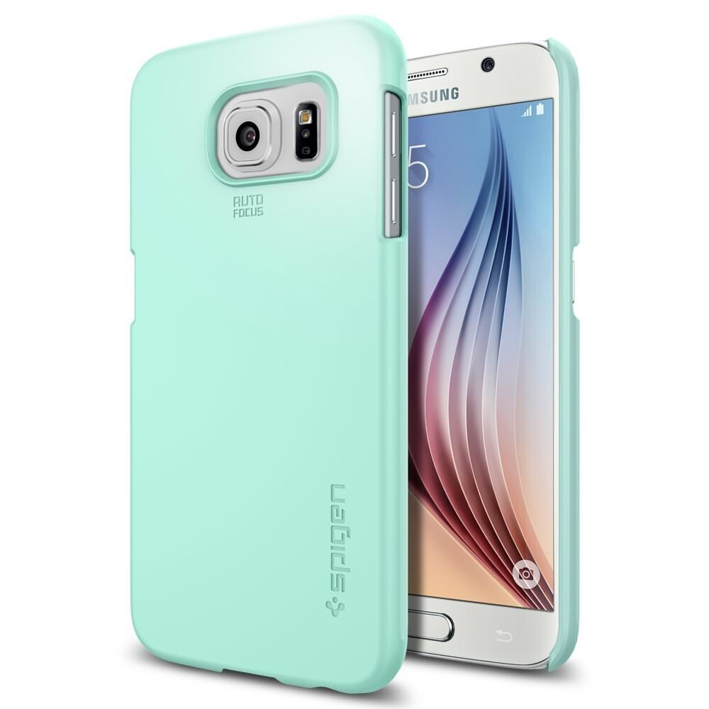 Чехол Spigen Thin Fit Mint для Samsung Galaxy S6