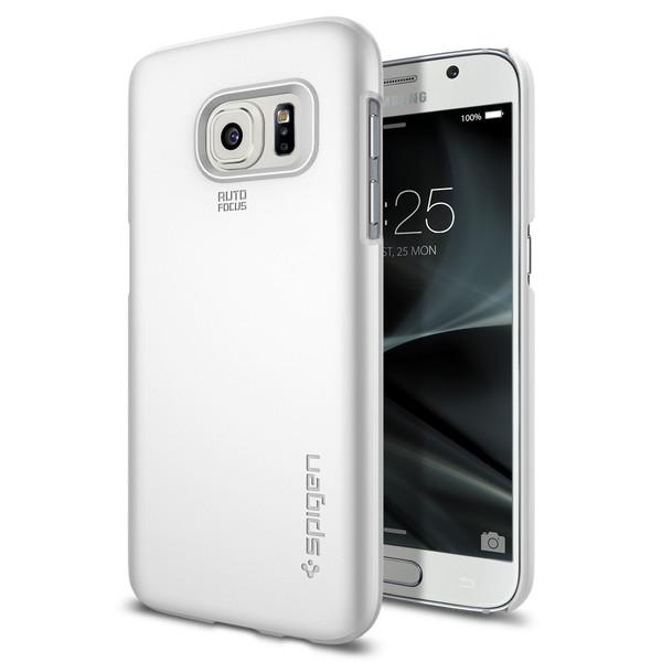 Чехол Spigen Thin Fit Shimmery White для Samsung Galaxy S7