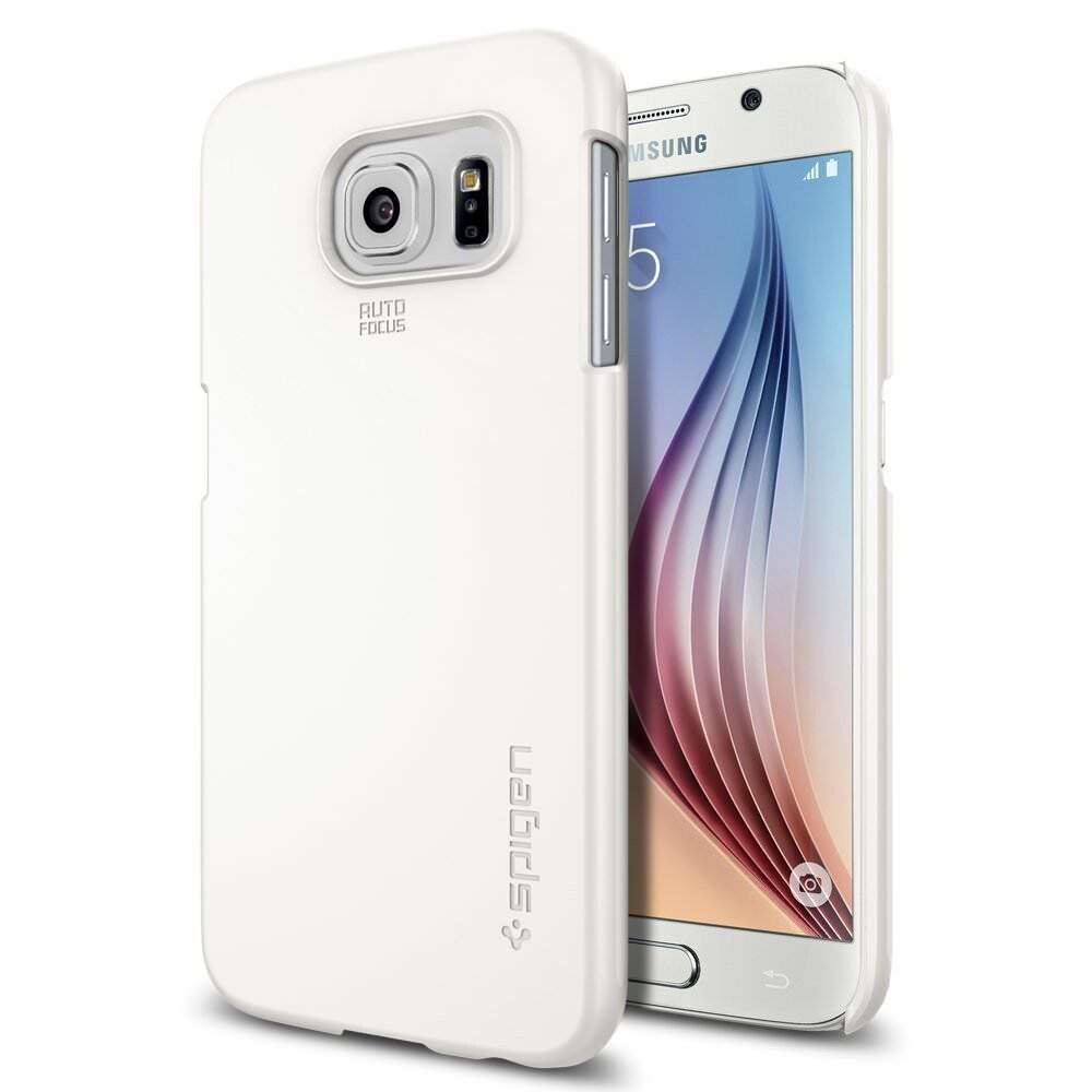 Чехол Spigen Thin Fit Shimmery White для Samsung Galaxy S6