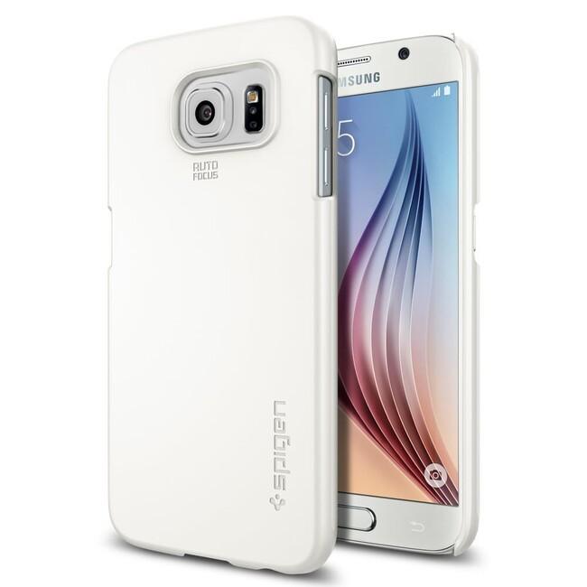 Чехол Spigen Thin Fit Shimmery White для Samsung Galaxy S6