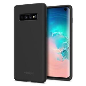 Купить Чехол Spigen Silicone Fit Black для Samsung Galaxy S10