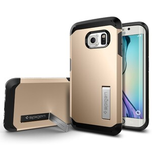 Купить Чехол Spigen Tough Armor Champagne Gold для Samsung Galaxy S6 Edge