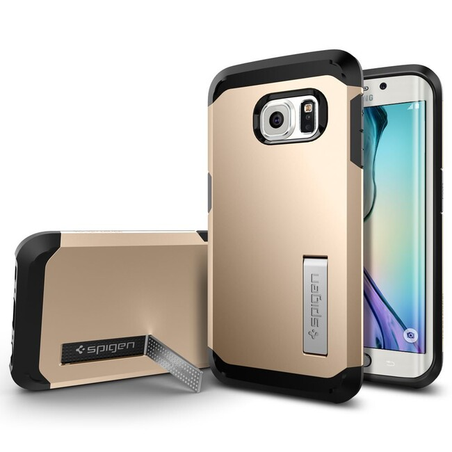 Чехол Spigen Tough Armor Champagne Gold для Samsung Galaxy S6 Edge