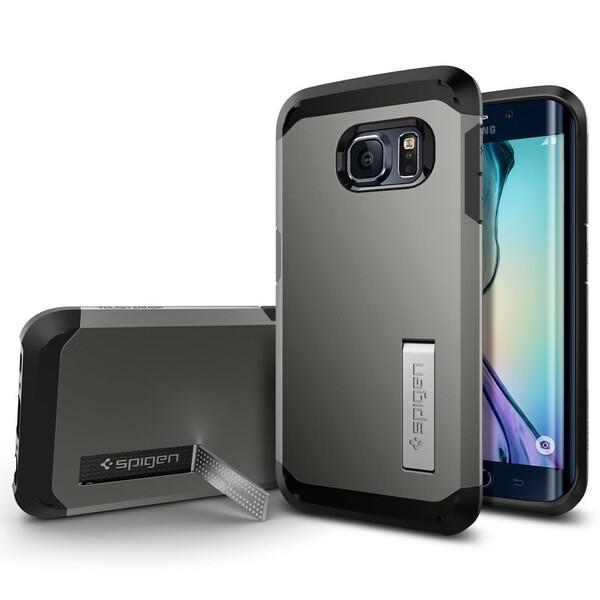 Чехол Spigen Tough Armor Gunmetal для Samsung Galaxy S6 Edge