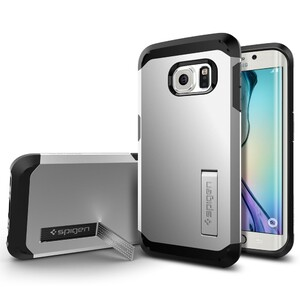 Купить Чехол Spigen Tough Armor Satin Silver для Samsung Galaxy S6 Edge