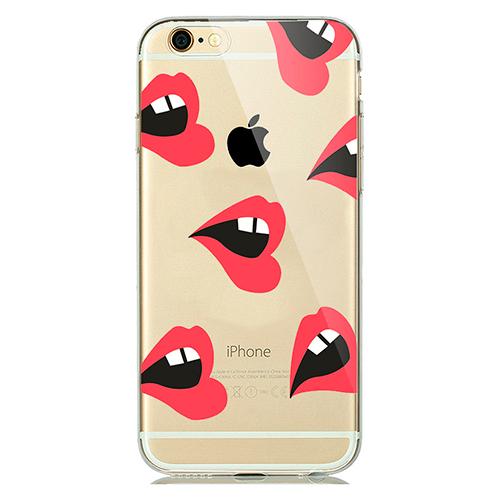 TPU чехол iLoungeMax Lips для iPhone 6   6s