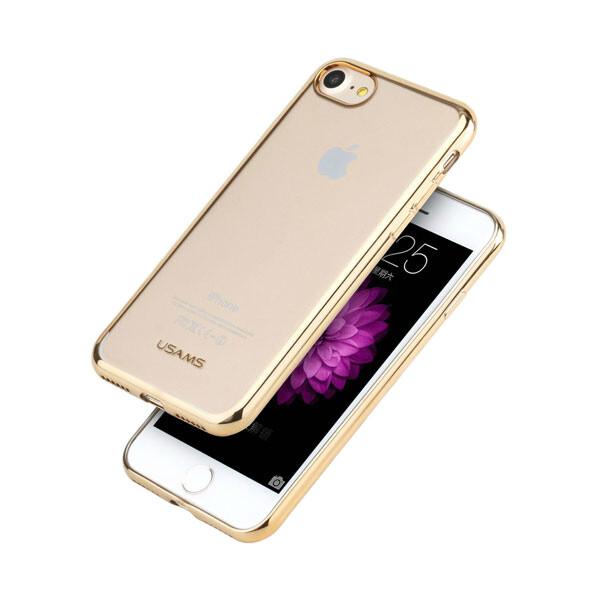 TPU чехол USAMS Kim Series Gold для iPhone 7/8