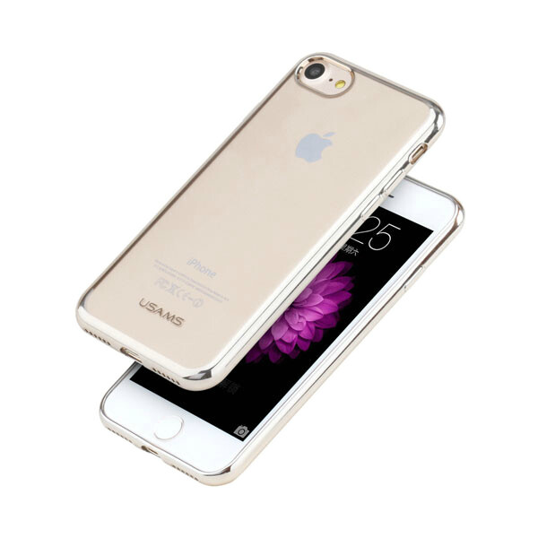 TPU чехол USAMS Kim Series Light Gold для iPhone 7/8