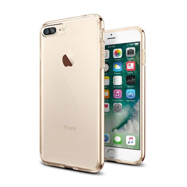 TPU чехол USAMS Kim Series Gold для iPhone 7 Plus