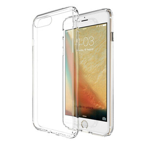 Купить Прозрачный TPU чехол Silicol 0.6mm для iPhone 7 Plus