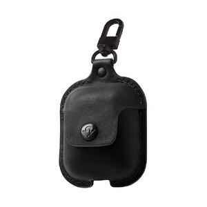 Купить Кожаный чехол с карабином Twelve South AirSnap Black для Apple AirPods