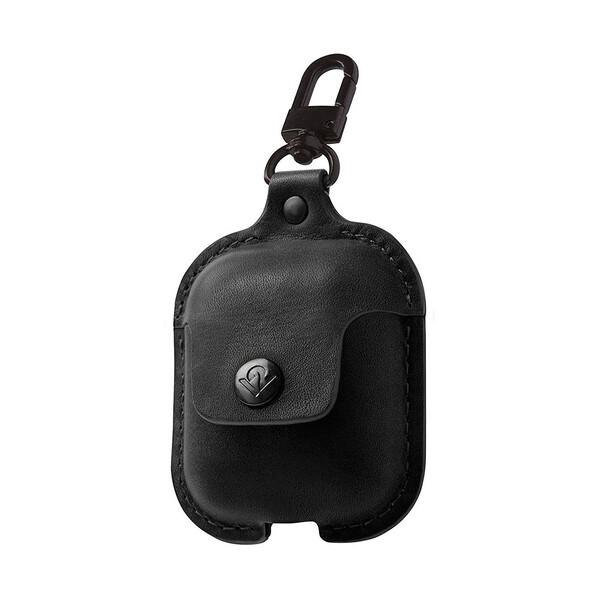 Кожаный чехол с карабином Twelve South AirSnap Black для Apple AirPods