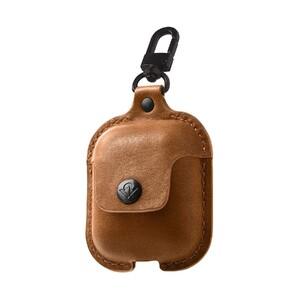 Купить Кожаный чехол с карабином Twelve South AirSnap Cognac для Apple AirPods