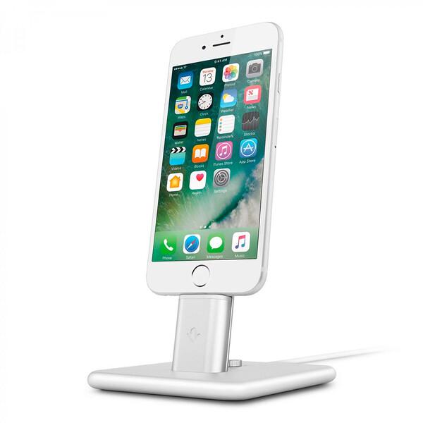 Док-станция Twelve South HiRise 2 Deluxe Silver для iPhone | iPad