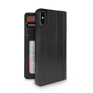 Купить Чехол-книжка Twelve South Journal Black для iPhone X