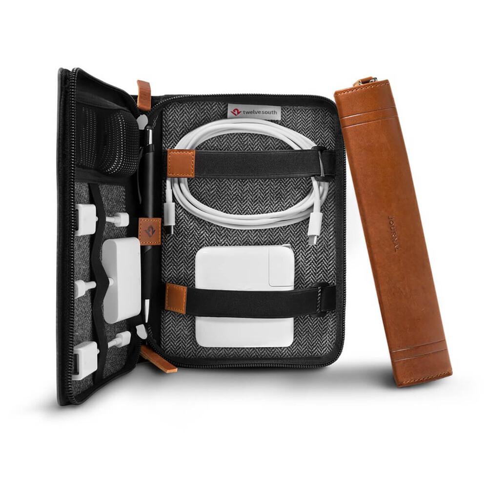 Купить Кожаная сумка-органайзер Twelve South Journal CaddySack
