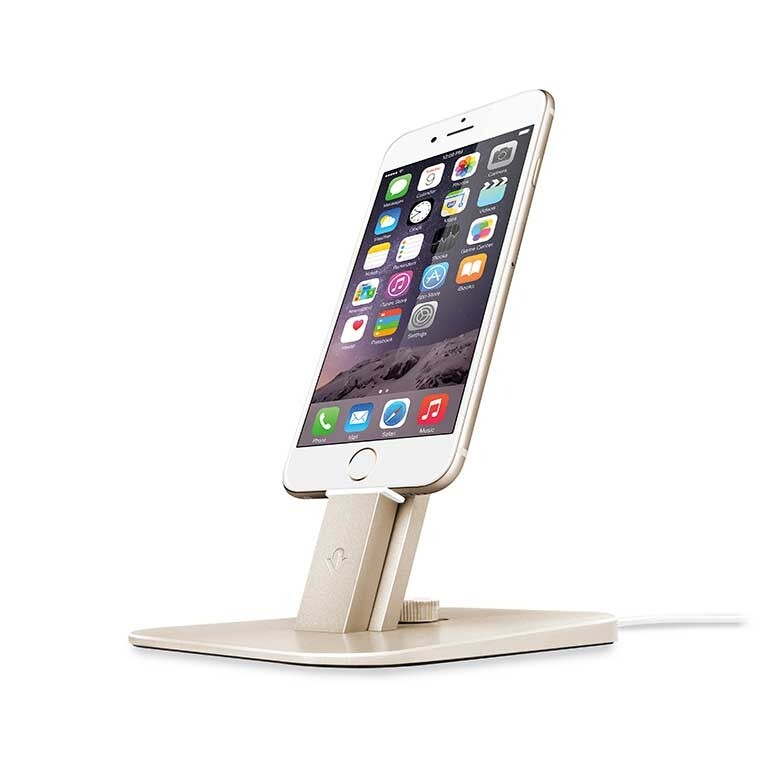 Док-станция Twelve South HiRise Deluxe Gold для iPhone/iPad