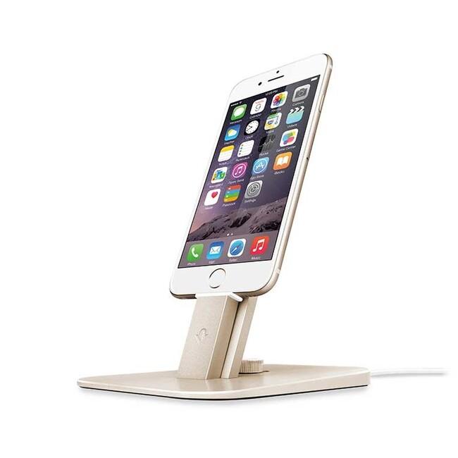 Док-станция Twelve South HiRise Deluxe Gold для iPhone/iPad