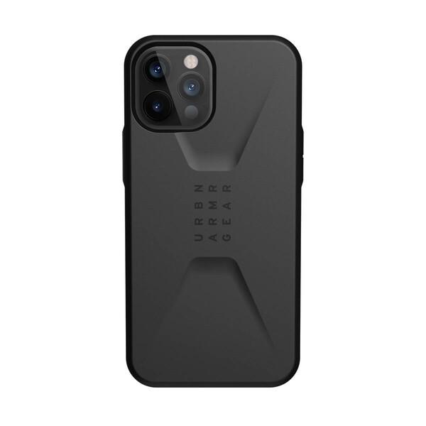 Черный противоударный чехол UAG Civilian Black для iPhone 12 Pro Max