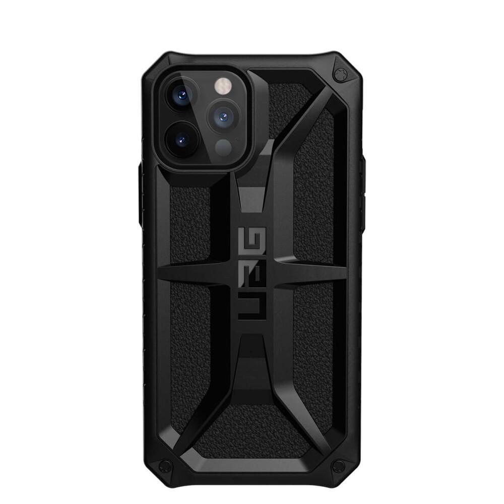 Купить Противоударный черный чехол UAG Monarch Series Black для iPhone 12 | 12 Pro