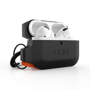 Купить Противоударный чехол UAG Silicone Case Black/Orange для AirPods Pro