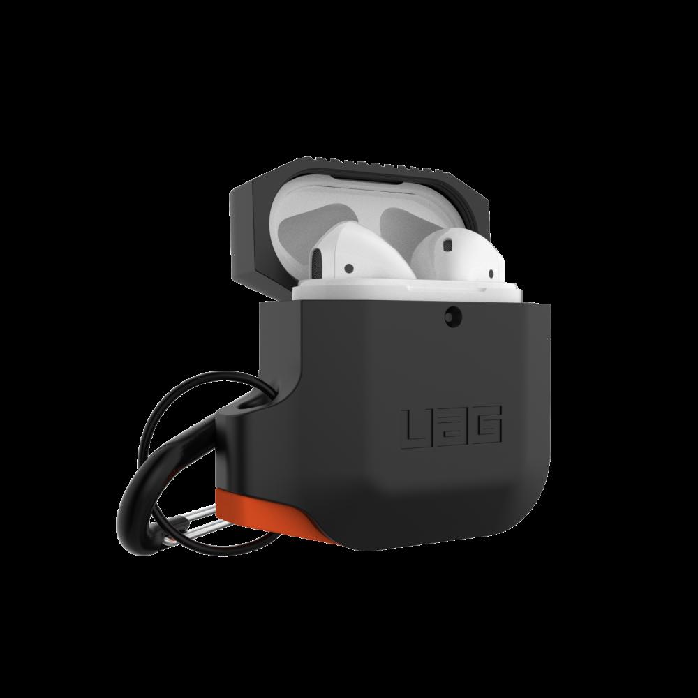Купить Противоударный чехол UAG Silicone Case Black   Orange для AirPods 2   1