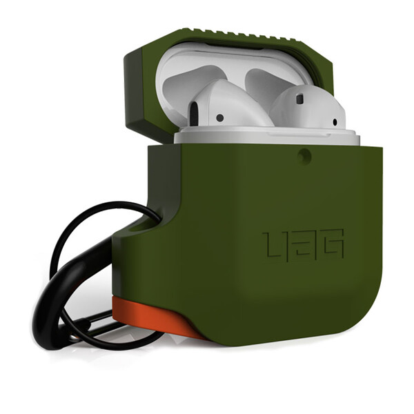 Противоударный чехол UAG Silicone Case Olive Drab для AirPods 2   1