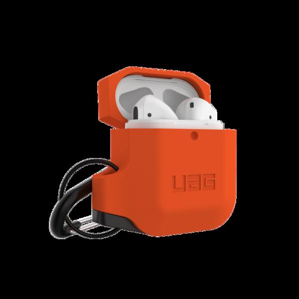 Противоударный чехол UAG Silicone Case Orange для AirPods 2   1