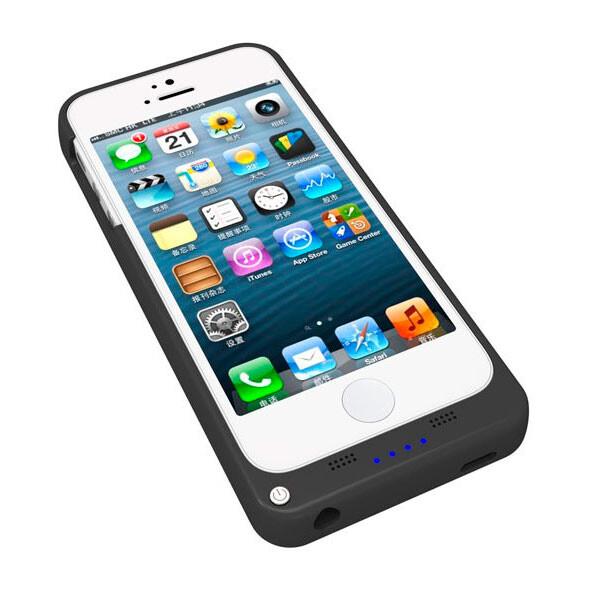 Черный чехол-аккумулятор UltraSlim на 2200mAh для iPhone 5/5S/SE