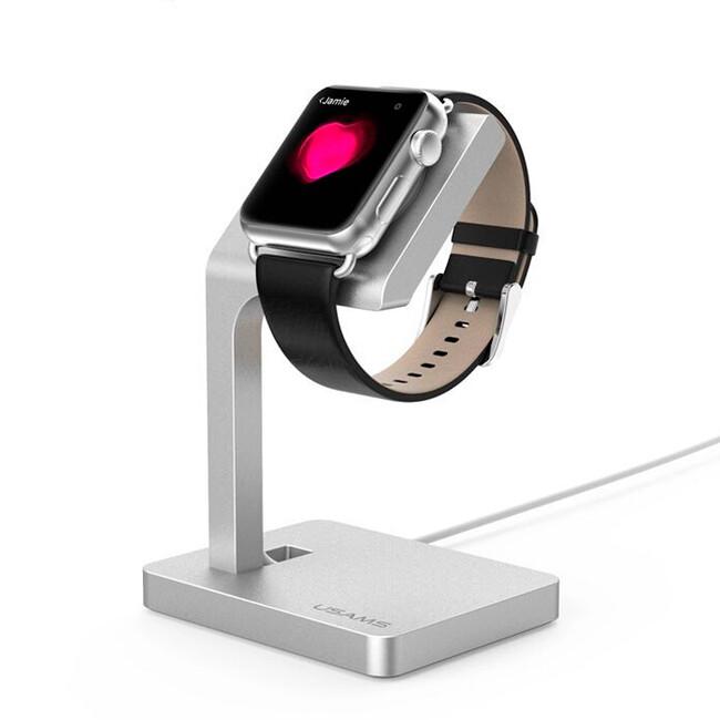 Алюминиевая док-станция USAMS Silver для Apple Watch