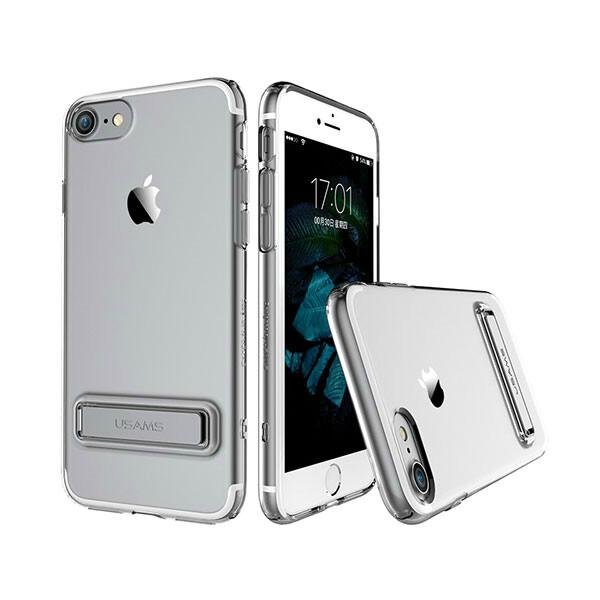Чехол с подставкой USAMS Bright Series Gray для iPhone 7/8
