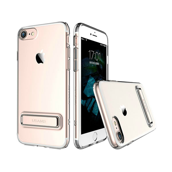 Чехол с подставкой USAMS Bright Series Rose Gold для iPhone 7