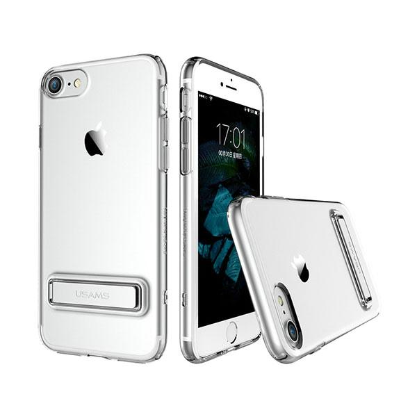 Чехол с подставкой USAMS Bright Series Silver для iPhone 7