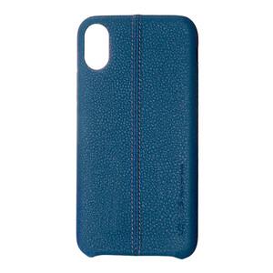 Купить Кожаный чехол USAMS Joe Series Midnight Blue для iPhone X