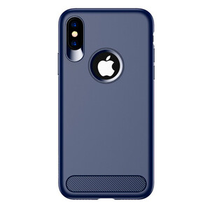 Купить TPU Чехол USAMS Muze Series Blue для iPhone X/XS