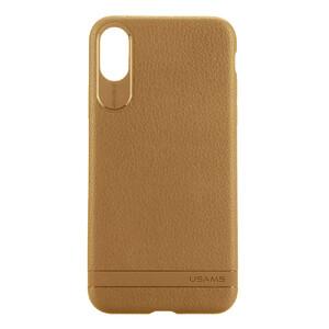 Купить Чехол-накладка USAMS Sinja Series Brown для iPhone X/XS