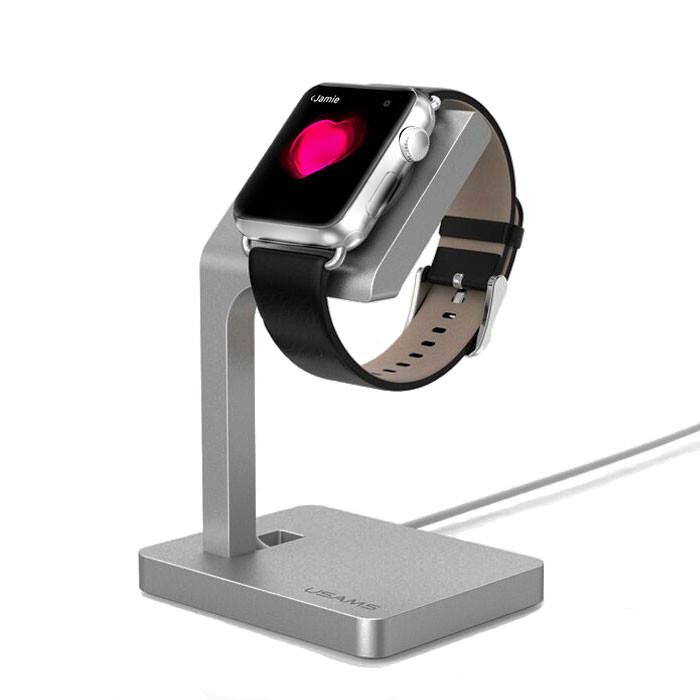 Алюминиевая док-станция USAMS Space Gray для Apple Watch