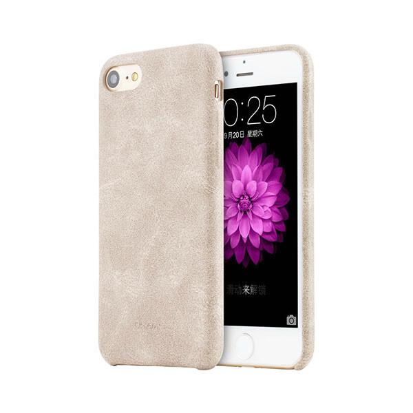 Ультратонкий кожаный чехол USAMS Touch Series Beige для iPhone 7/8