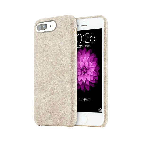 Ультратонкий кожаный чехол USAMS Touch Series Beige для iPhone 7 Plus/8 Plus