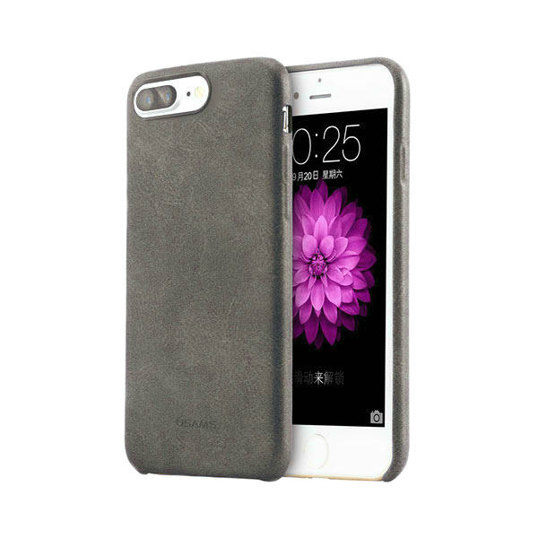 Ультратонкий кожаный чехол USAMS Touch Series Dark Gray для iPhone 7 Plus
