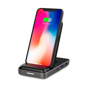 Купить Беспроводная зарядка с USB-C хабом HyperDrive 7.5W (открытая упаковка)