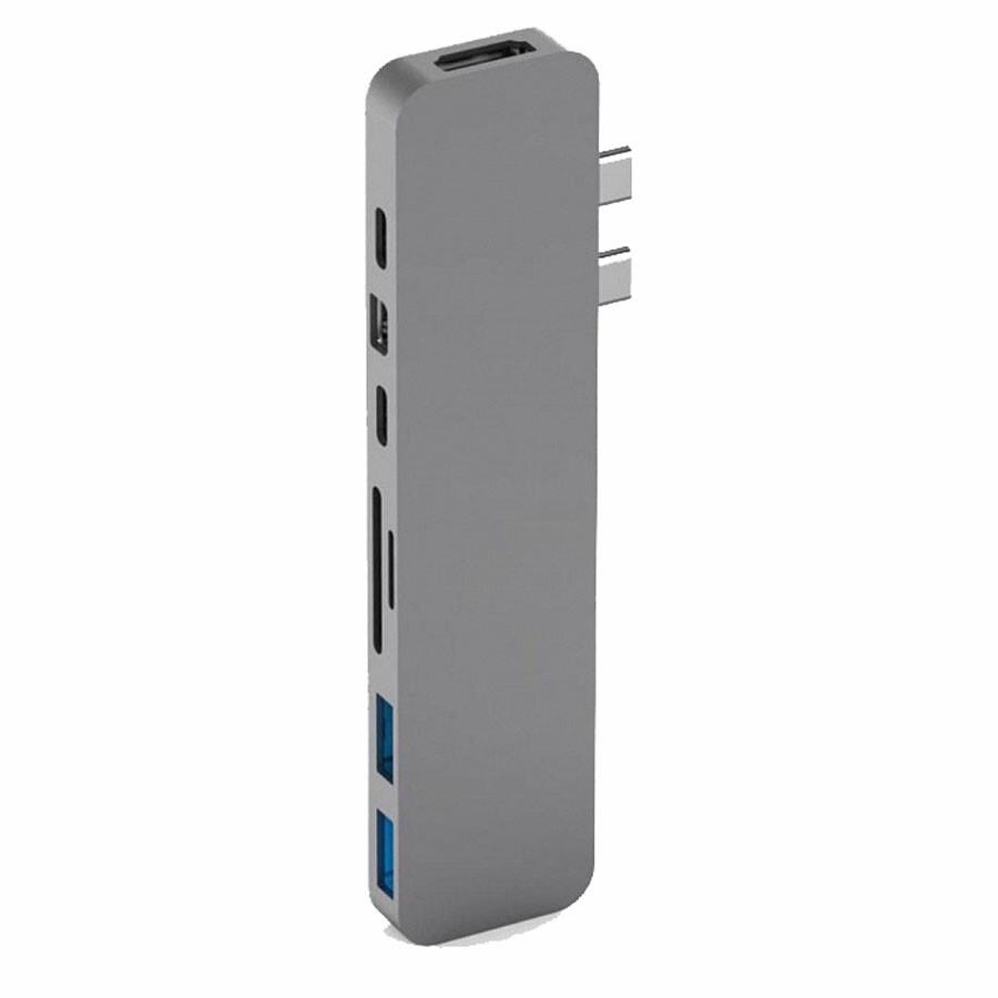 Хаб (адаптер) HyperDrive PRO 8-in-2 USB-C 4K30Hz HDMI для MacBook Pro | Air Space Gray
