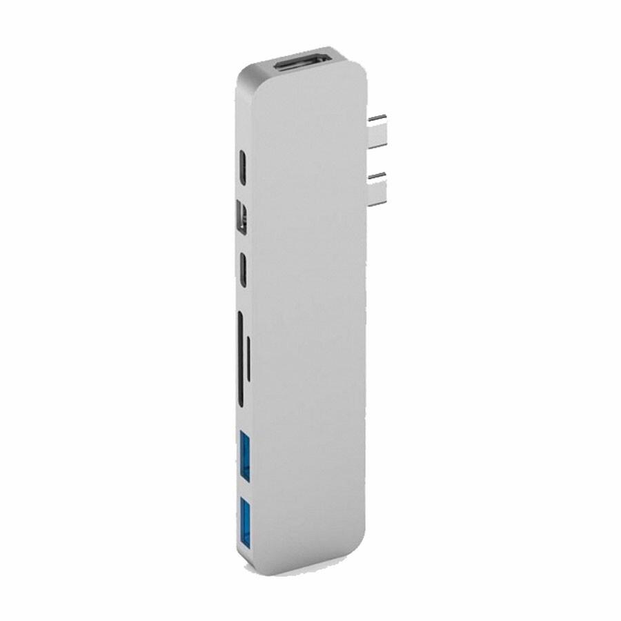 Хаб (адаптер) HyperDrive PRO 8-in-2 USB-C 4K30Hz HDMI для MacBook Pro | Air Silver